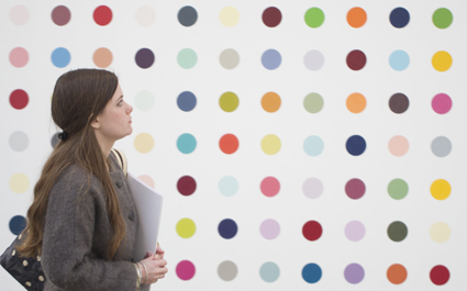 The Damien Hirst exhibition 'The Complete Spot Paintings 1986-2011' at the Gagosian Gallery, London, Britain - 12 Jan 2012