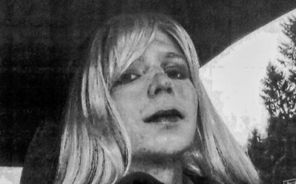 Bradley Manning wearing make-up and a blonde wig, America - 15 Aug 2013