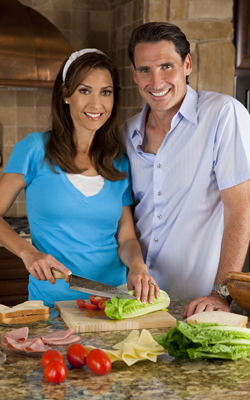 They're happy because they have salad ingredients
