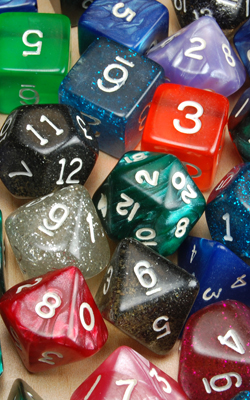 'Die' is the singular of dice
