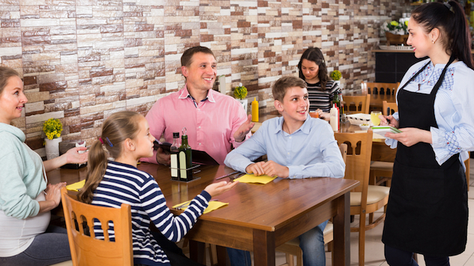 Dad develops strange new personality every time he talks to a waitress