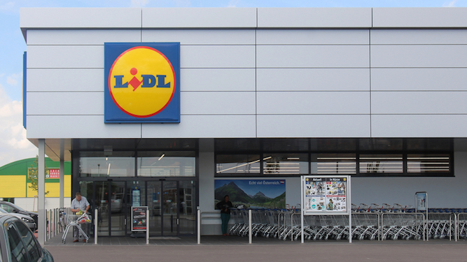 Woman unable to leave Lidl without a bag full of crap