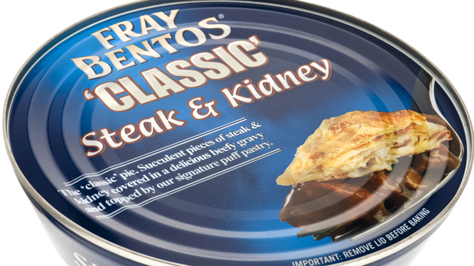 Fray Bentos to change pie tin but keep contents disgusting