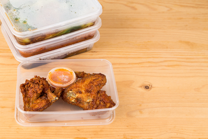 Man keeping all the plastic tubs from Indian takeaways but won't say why