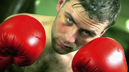 Man who has taken up boxing getting punched a lot