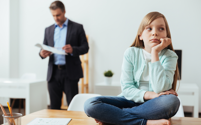 Child taken into work with Daddy discovers that he does f**k all