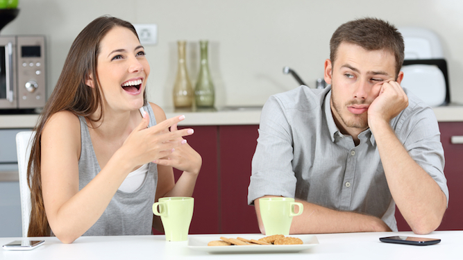 Man trapped for three days waiting for wife to finish her story