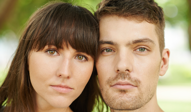 Couple lower their standards enough to marry each other