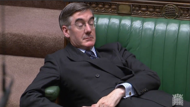 The opium kicked in, Rees-Mogg admits