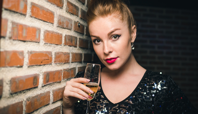 Woman finally realises that champagne is revolting
