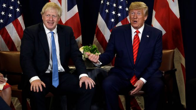 Trump spends ten minutes with Johnson and is in deep sh*t already