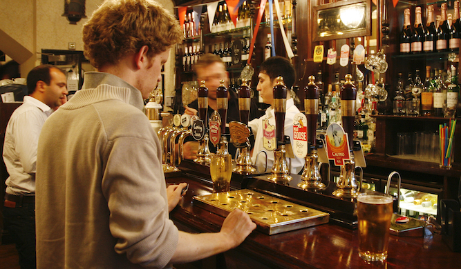 'What's reasonably priced?' asks man in London pub expecting a miracle