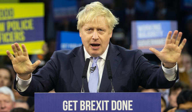 I never said I'd get Brexit done, says Johnson
