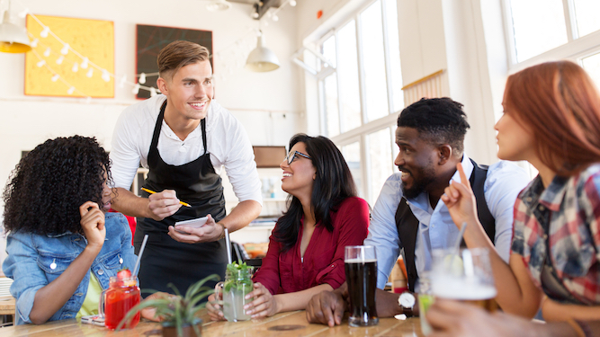 Whole lunch thrown into chaos as man orders starter