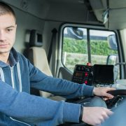 Lorry driver reversing