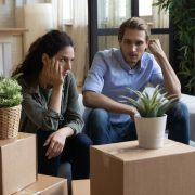 Unhappy couple moving house